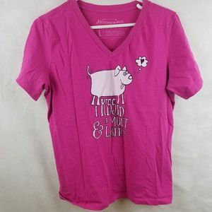 Women's Hendrick Boards Pink T-Shirt Size Large